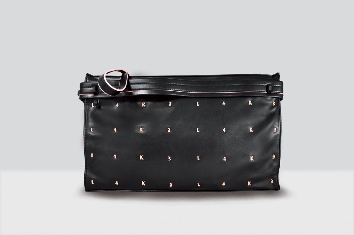 Kate Bag Letters - 113 - Black/Pink