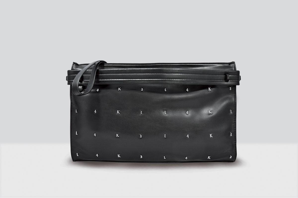 Kate Bag Letters - 114 - Black/Silver