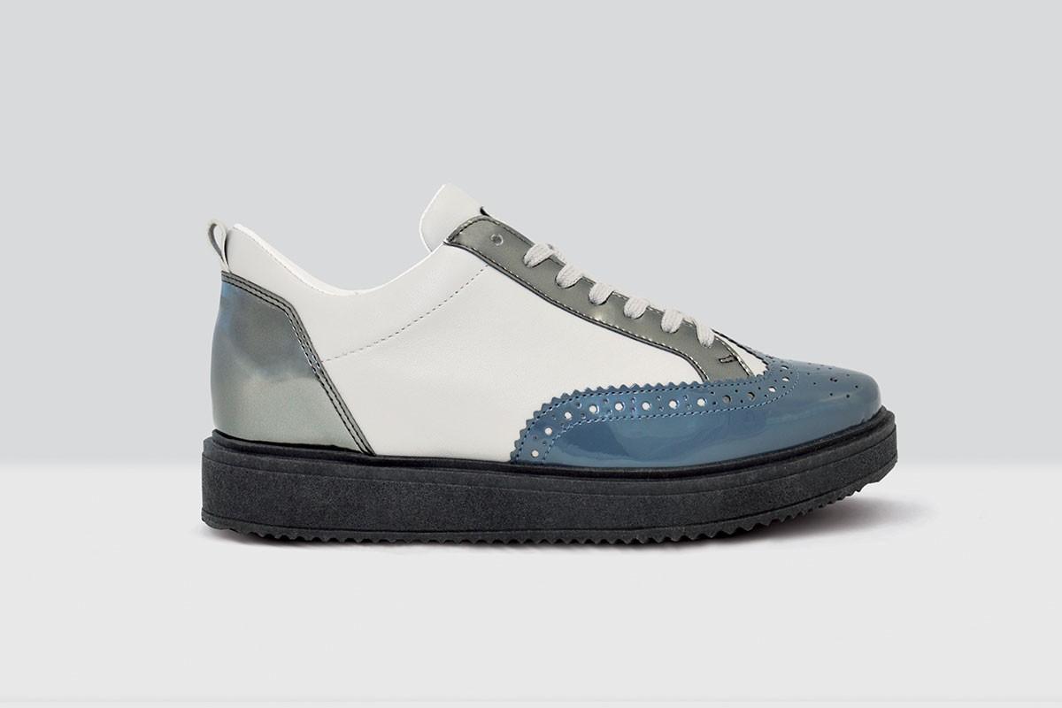 Royal Derby Nappa - 67 - Sea Blue/Grey
