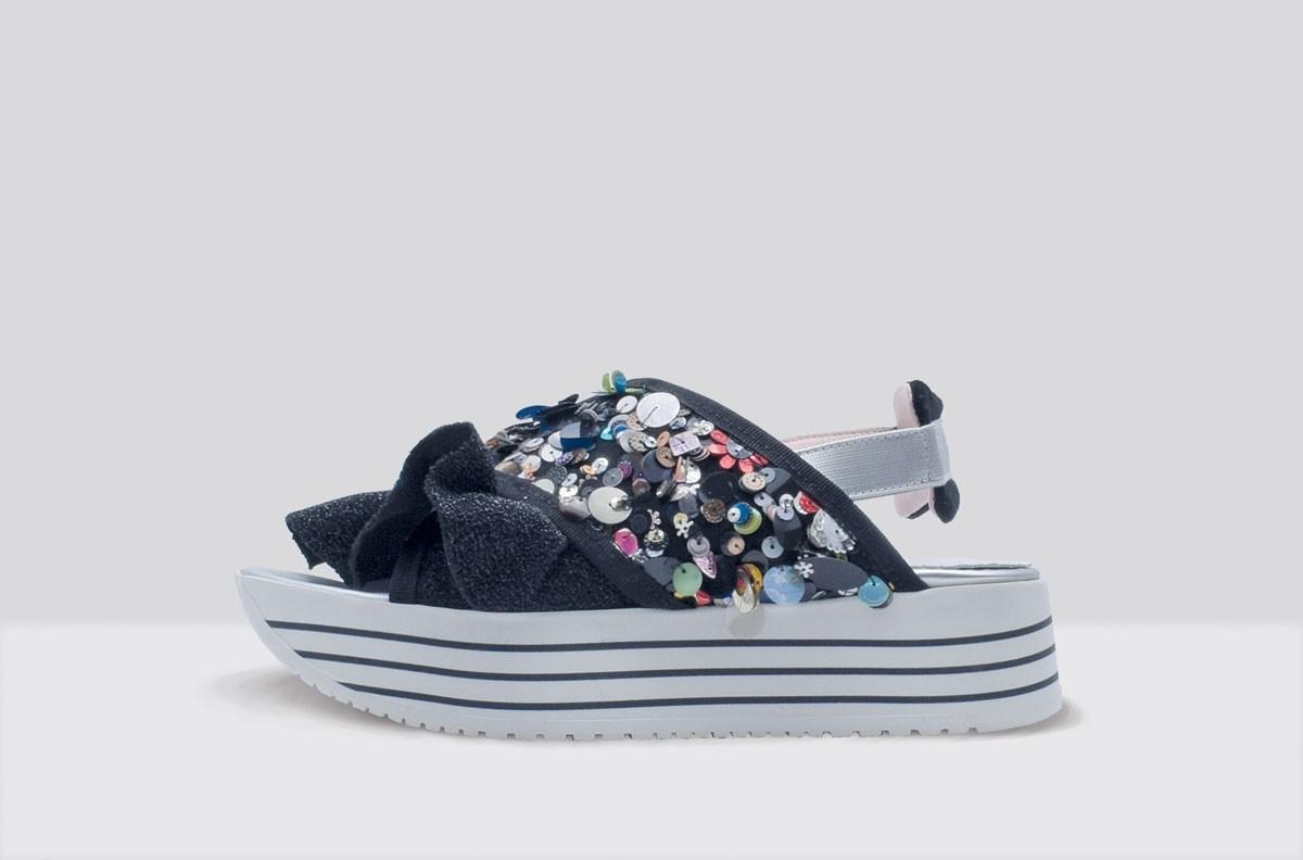 Sandal SUPER PAILLETTES Black