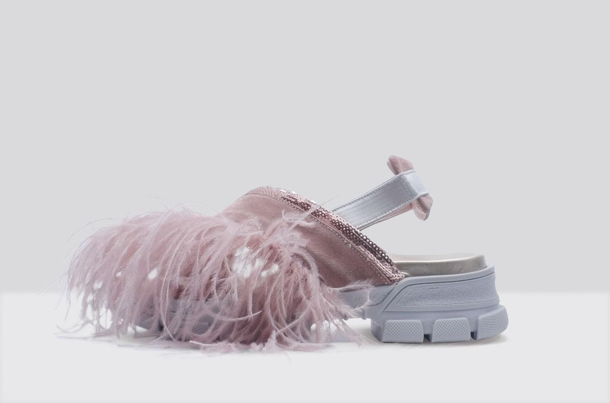 Sandal PIUME STRUZZO Pink
