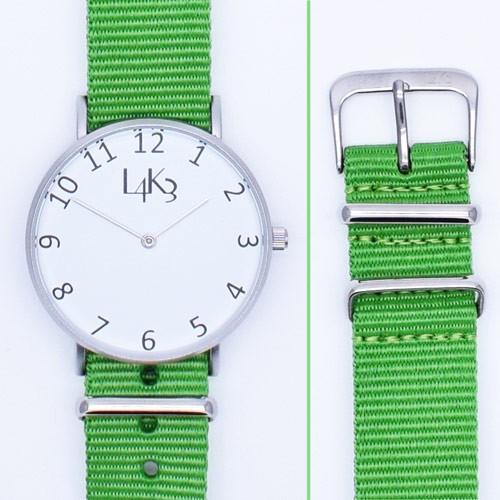 Watch - Cassa Argento Opaco - Strap Verde Fluo
