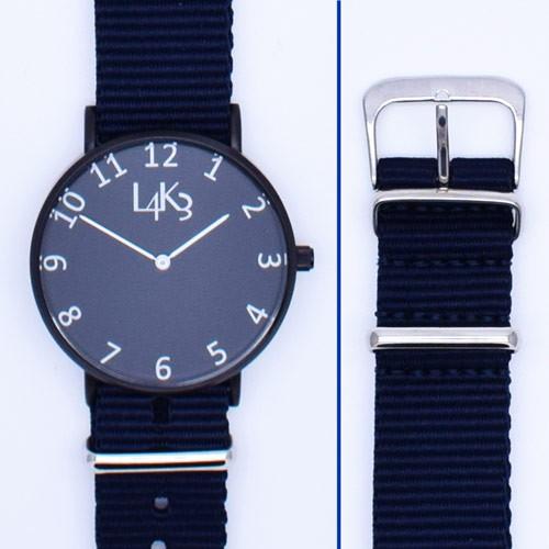 Watch - Cassa Nero Opaco - Strap Blue Navy