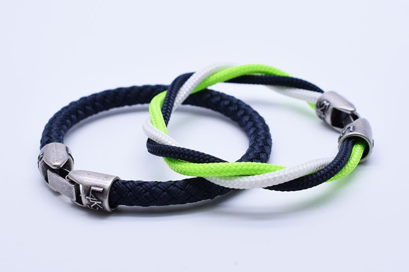 MUST 07 - Bianco - Verde Fluo - Blue Navy / Blue Navy