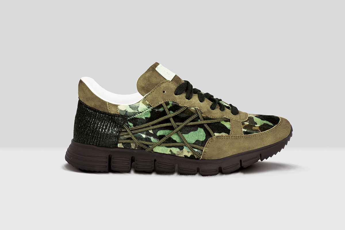 Mr Big Camou Velluto - 37 - Military Green