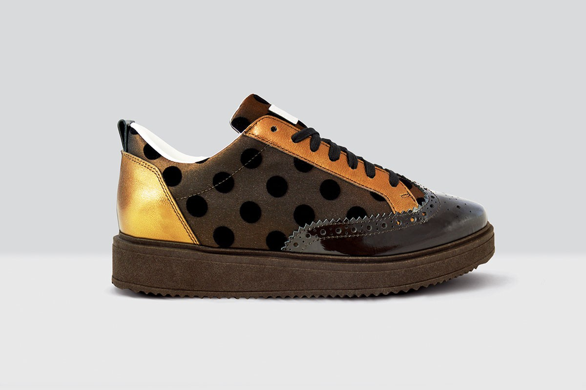 Royal Derby Velluto Pois - 60 - Brown/Gold