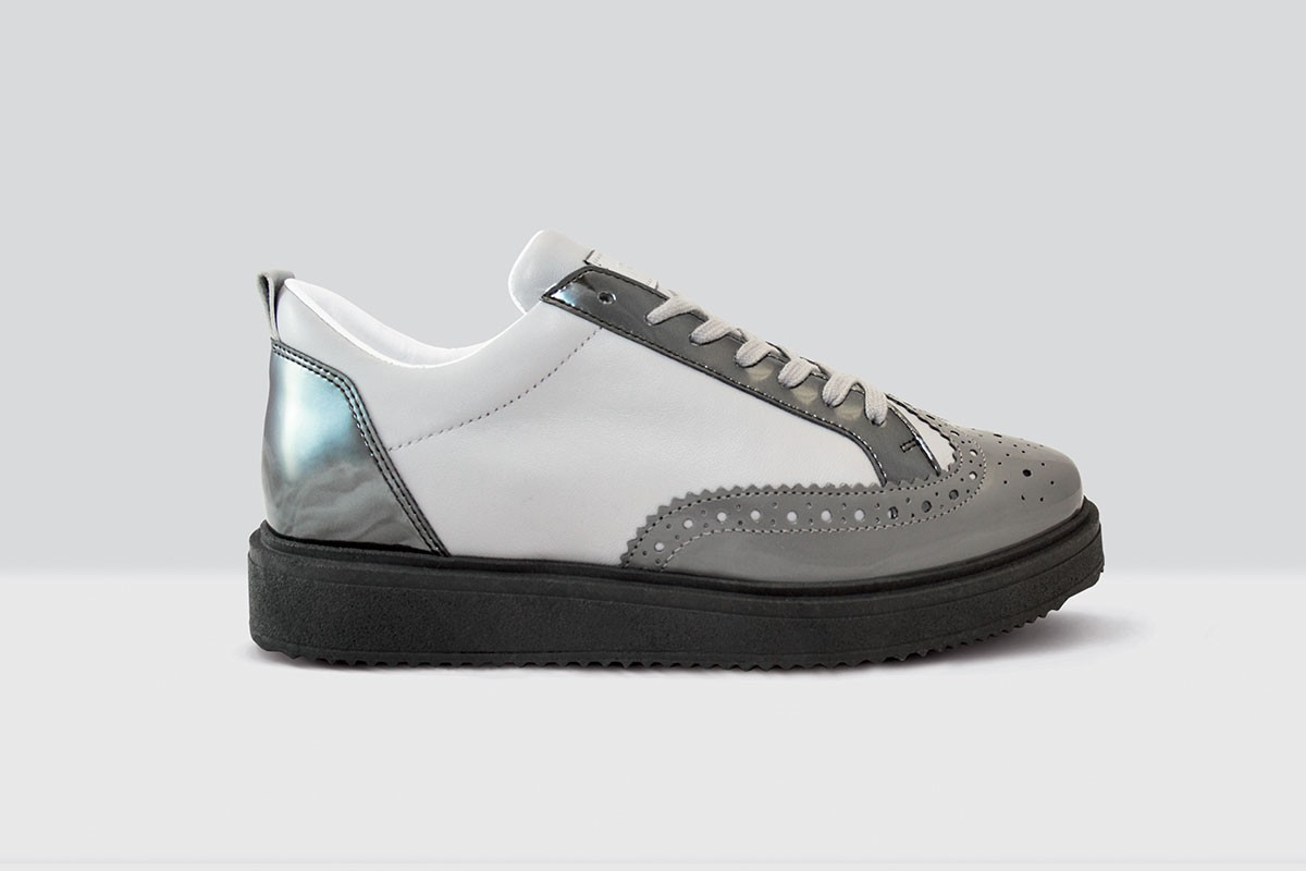 Royal Derby Nappa - 64 - Light Grey/Grey