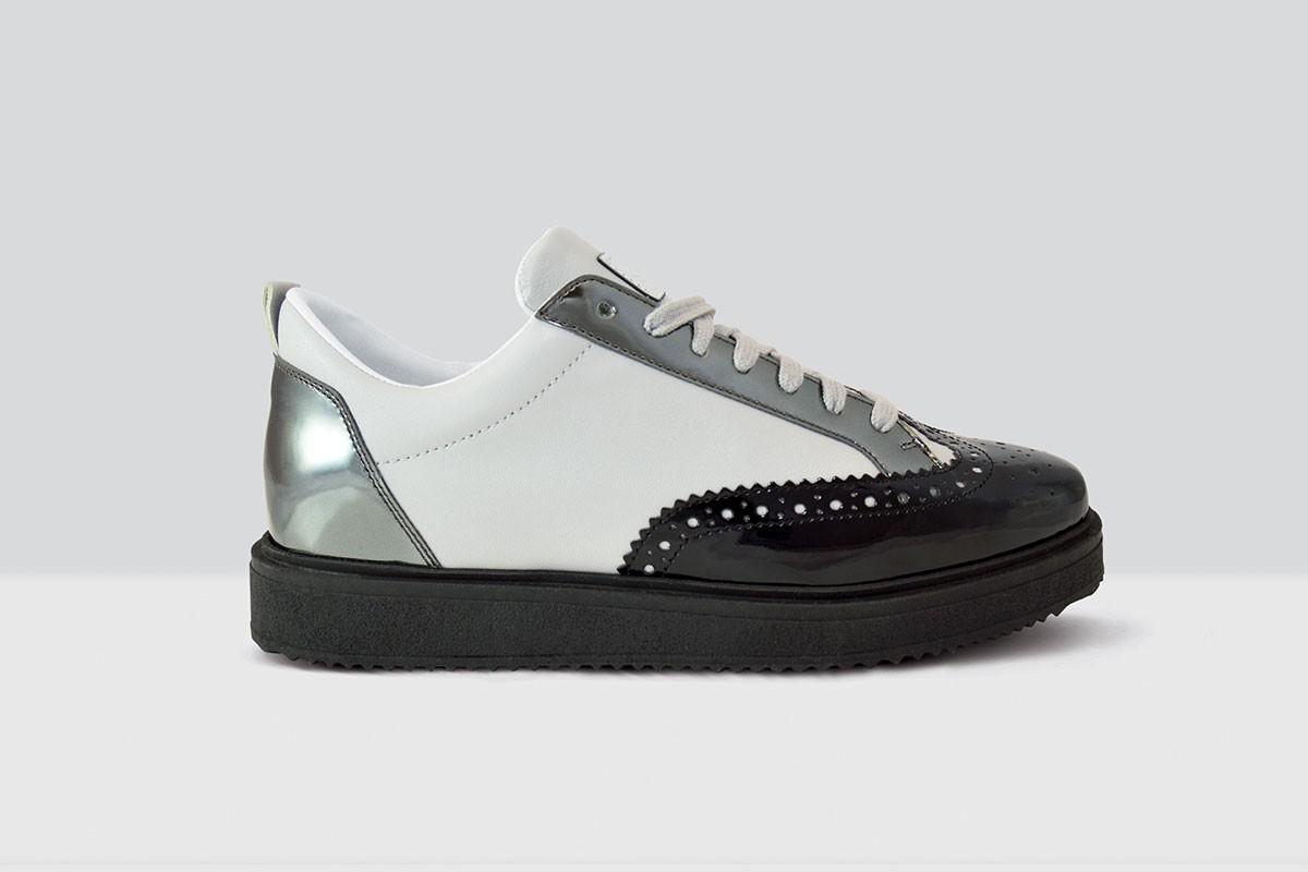 Royal Derby Nappa - 65 - Black/Light Grey