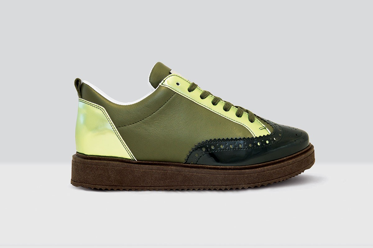 Royal Derby Nappa - 68 - Dark Green/Olive Green