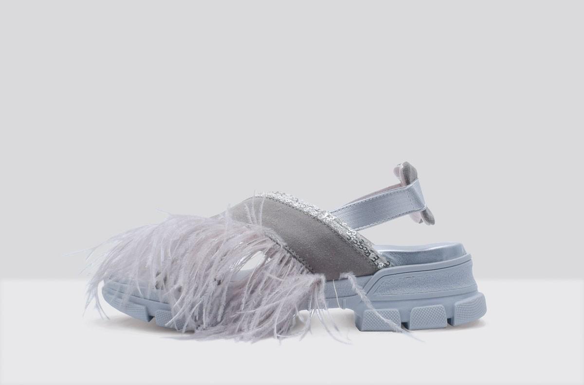 Sandal PIUME STRUZZO Beige