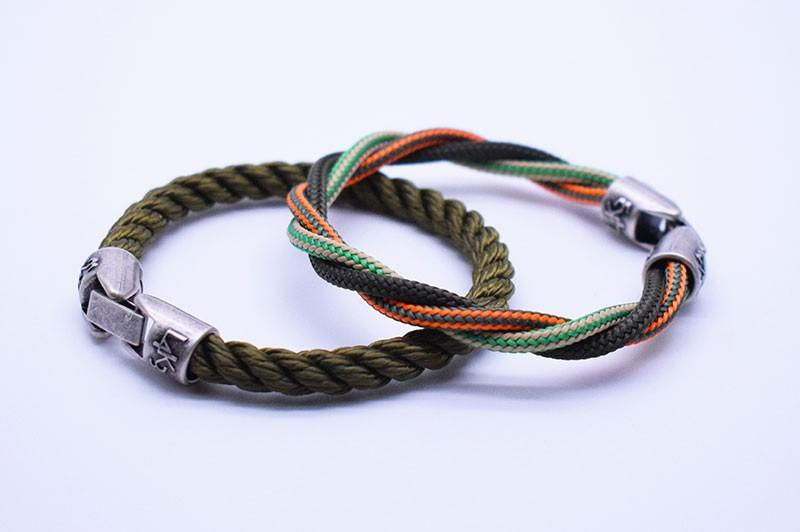 KING 03 - Verde Military - VM righe Arancio Fl - VM righe Canapa