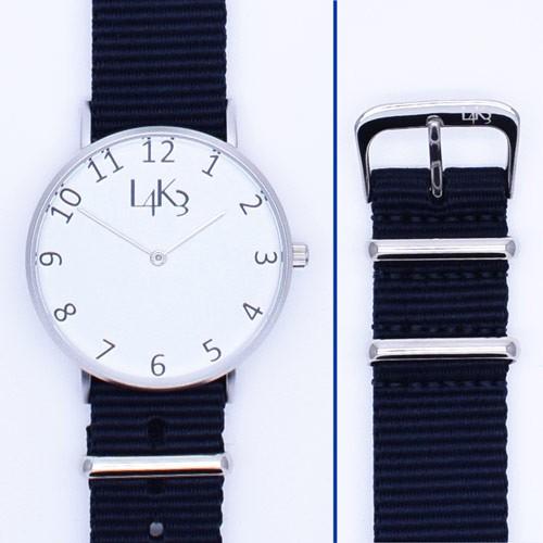 Watch - Cassa Argento Opaco - Strap Blue Navy