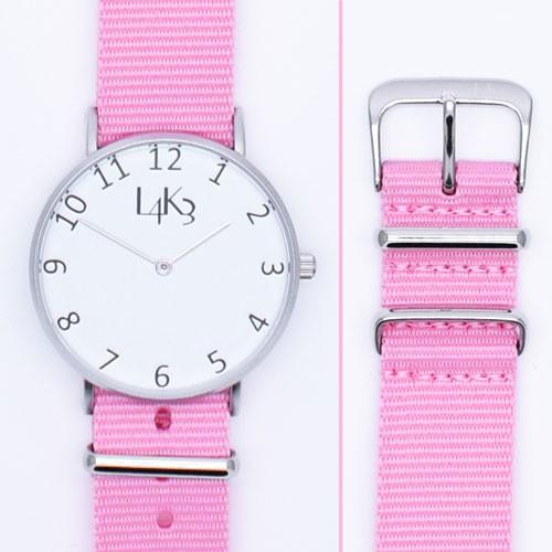 Watch - Cassa Argento Opaco - Strap Pink