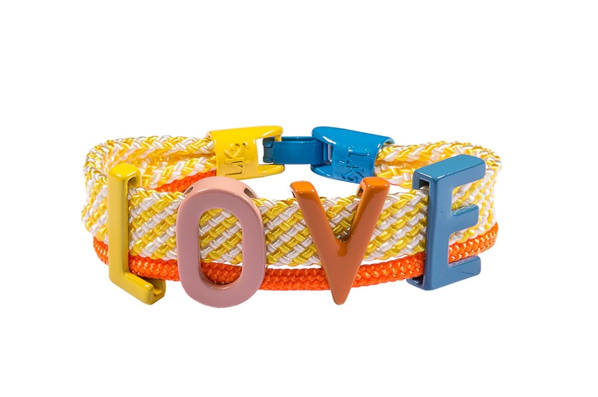 Bracciale LOVE 04-GIALLO