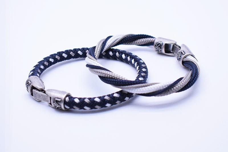 TAYLOR 02 - Blue Navy - Bianco - Silver / Blue Navy spie color