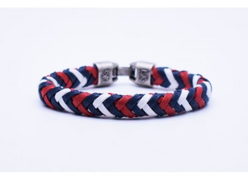 CUOIO 01 - Blue Navy - Bianco - Rosso