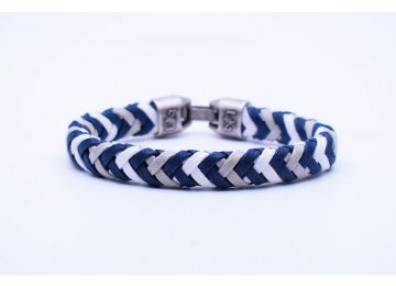 CUOIO 02 - Blue Navy / SIlver - Bianco