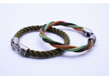 KING 03 - Verde Military - VM righe Arancio Fl - VM righe Canapa