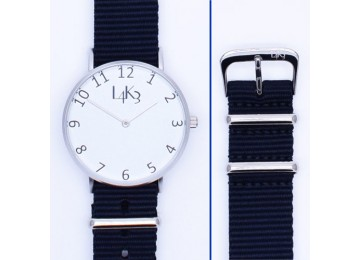 Watch - Cassa Argento Opaco - Strap Blue Navy