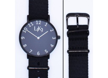 Watch - Cassa Nero Opaco - Strap Nero