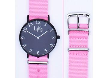 Watch - Cassa Nero Opaco - Strap Pink
