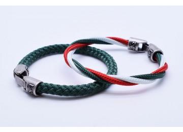 MUST 10 - Bianco - Verde Inglese - Rosso / Verde Inglese