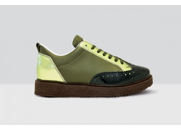 Royal Derby Nappa - 68 - Dark Green/Olive Green