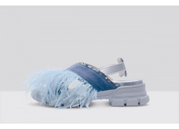 Sandal PIUME STRUZZO Light Blue