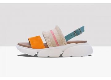 Sandal BLUES - Orange/Light Blue